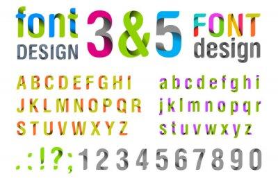 Affisch Font design. Ribbon Alphabet. vektor.