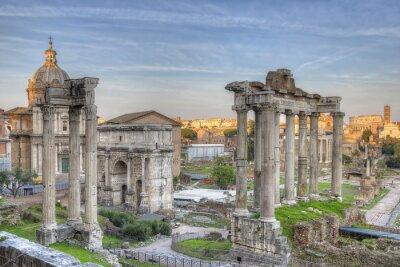 Affisch Forum Romanum Sunset HDR