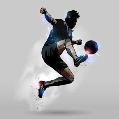 Affisch Fotboll hoppning röra bollen 02