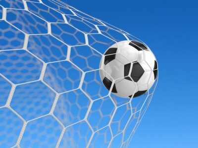 Affisch Fotboll i nät