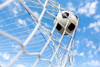 Affisch Fotboll, mål, fotboll.