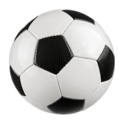 Affisch Fotboll på ren vit