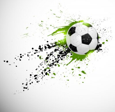 Affisch fotboll utformning