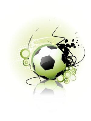 Affisch Fotboll vektorgrafik