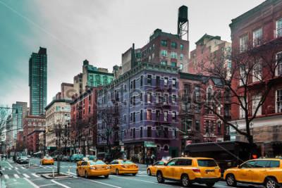 Affisch Foto av byggnader och gator i Upper West Manhattan, New York City