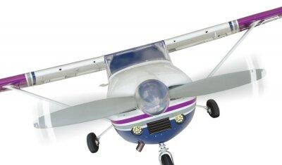Affisch Framsidan av Cessna 172 Single Propellerflygplan White