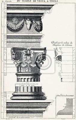 Affisch Från templet Vesta i Tivoli