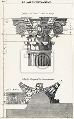 Affisch Från Titusbågen i Rom