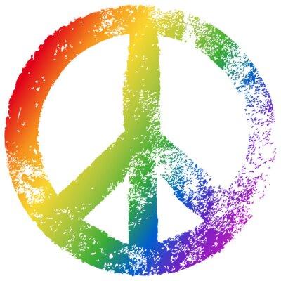 Affisch Fred undertecknar, regnbågens färger, vektor, grunge, valfritt