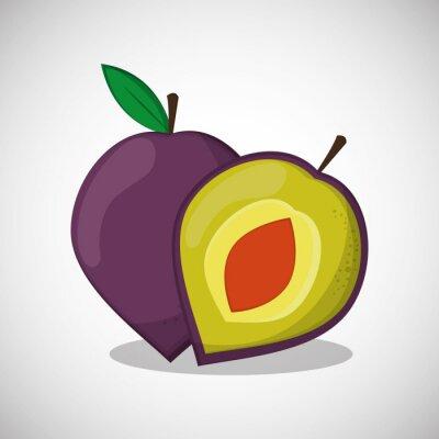 Affisch Frukter ikonen design