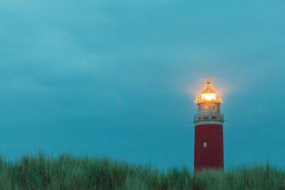 Affisch Fyr på den nederländska ön Texel