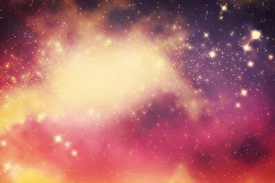 Affisch Galaxy med stjärnor och fantasiuniversum utrymme.