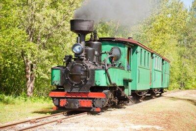Affisch Gamla ångmaskin tåg