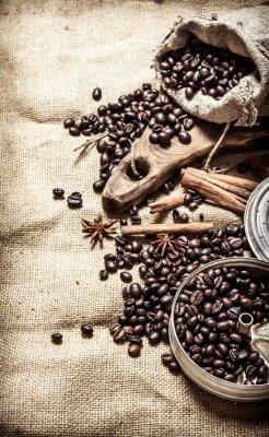 Affisch Gamla kaffe stil.