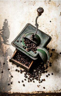 Affisch Gamla kaffekvarn