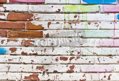 Affisch Gamla muren fyllning av graffiti