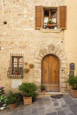 Affisch Gamla stan i Montepulciano i Toscana