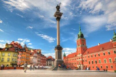 Affisch Gamla stan i Warszawa, Polen