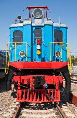 Affisch gamla tåg