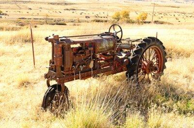 Affisch gammal traktor