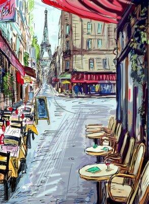 Affisch Gata i Paris - illustration