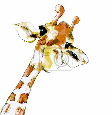 Affisch Giraff