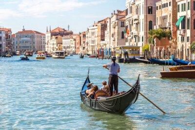 Affisch Gondol på Canal Grande i Venedig