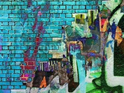Affisch Graffiti collage. abstrakt struktur