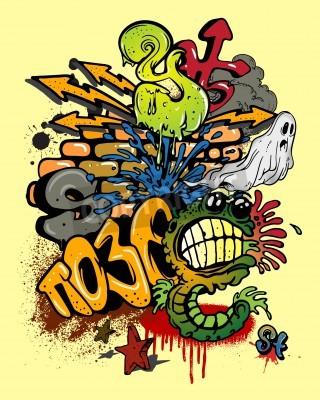 Affisch Graffiti element.