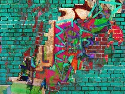 Affisch Graffiti konsistens. Abstrakt collage.