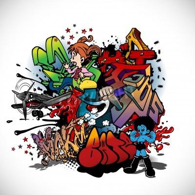 Affisch Graffiti, urban konst