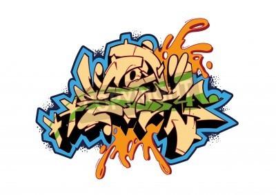 Affisch Graffiti vektor skiss design, ord STORM. Detta är min illustration.