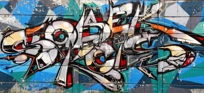 Affisch graffitikonst i Novi Sad Serbien 8