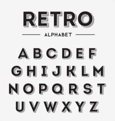 Affisch Grafiska Retro Letters inställd
