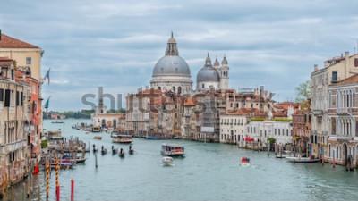 Affisch Grand Canal and Basilica Santa Maria della Salute, Venedig, Italien