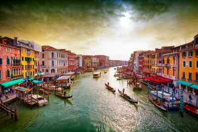 Affisch Grand Canal, Venedig, Italien.