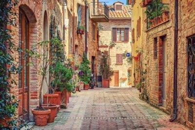 Affisch Gränd i gamla stan Toscana