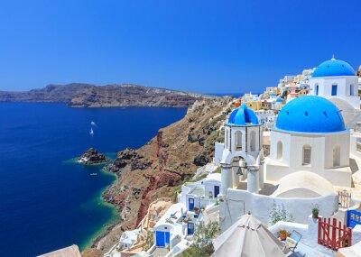 Affisch Grekland Santorini