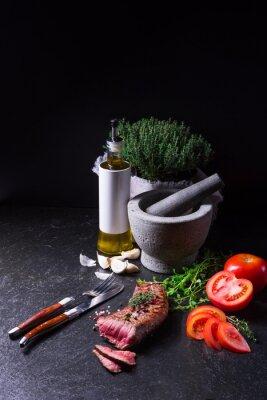 Affisch grillad stek