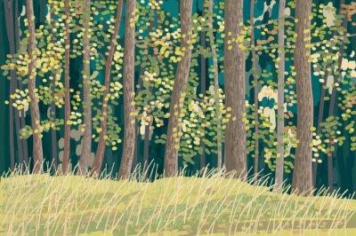 Affisch grön skog