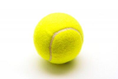 Affisch grön tennisboll på vit bakgrund