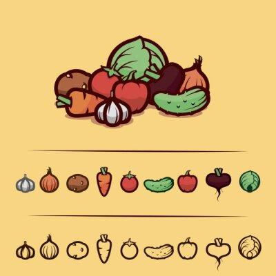 Affisch grönsaker inställd