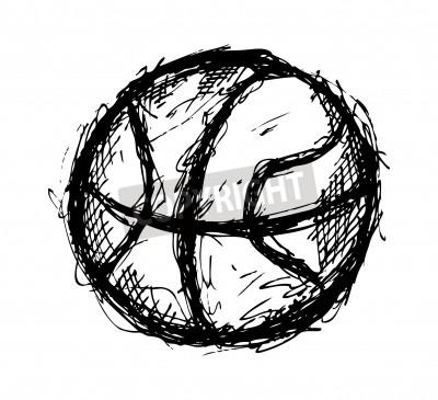 Affisch Grunge basket klotter