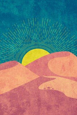 Affisch Grunge desert dunes