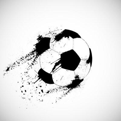 Affisch Grunge fotboll