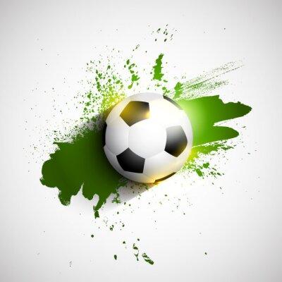 Affisch Grunge fotboll / fotboll bakgrund