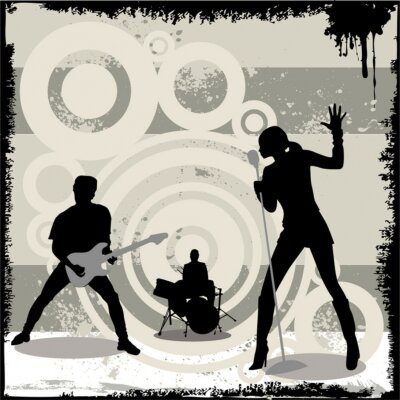 Affisch grunge konsert vektor