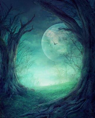 Affisch Halloween Spooky Forest