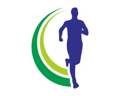 Affisch hälsa run logo