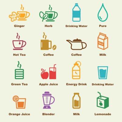 Affisch hälsosam dryck element